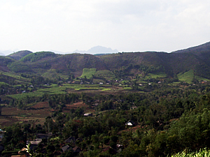 Mountainous area of the Hòa Bình Province in Northwest Viet Nam
