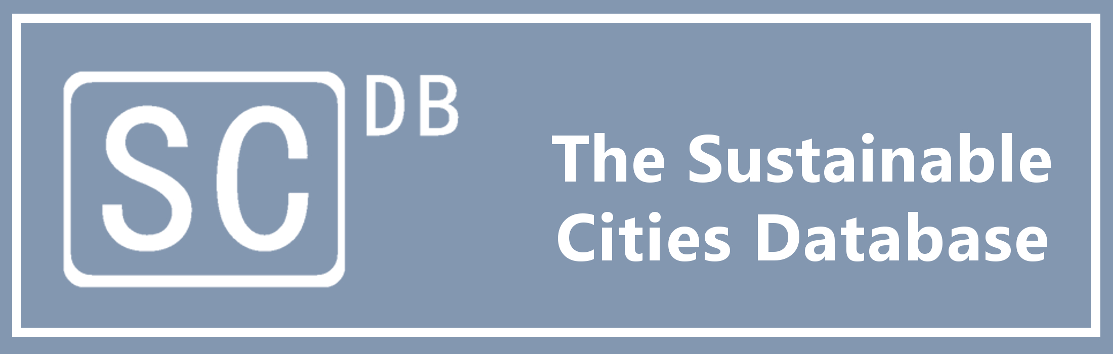 The Sustainable Cities Database