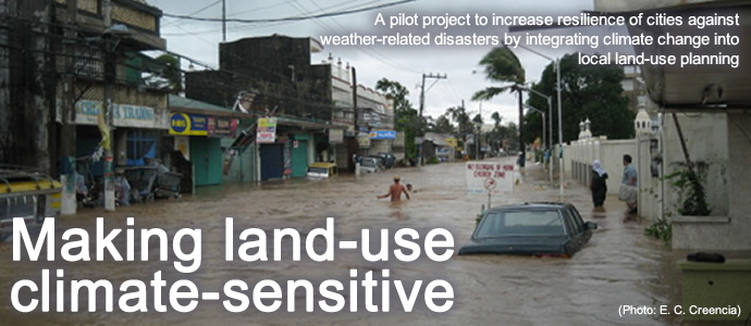 Making land-use climate-sensitive: A pilot project to increase resilience of cities against weather-related disasters by integrating climate change into local land-use planning