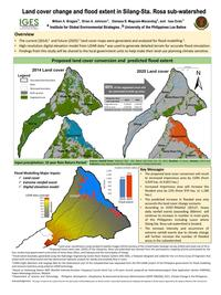 Land cover change and flood extent in Silang-Sta. Rosa sub-watershed
